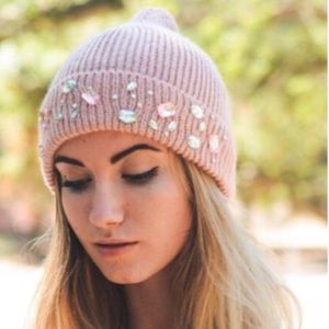 ☃️☃️Pink Jeweled Hat, PRE-ORDER☃️☃️COMING SOON